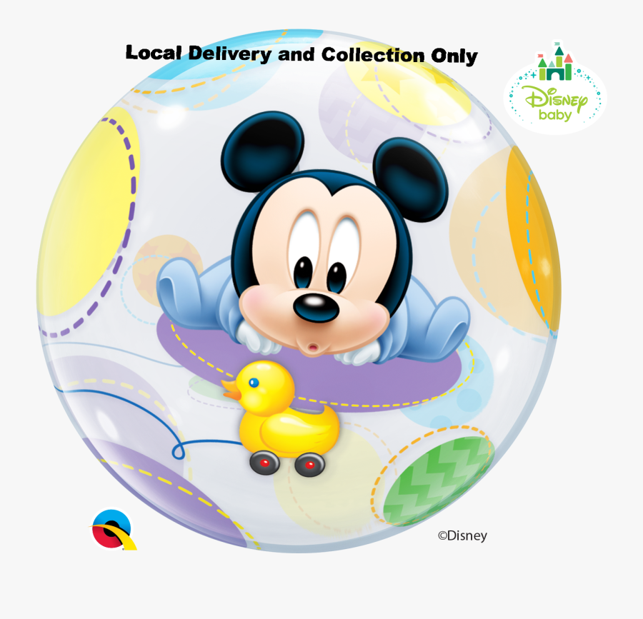 Mickey Balloon Png - Mickey Mouse Baby Bubble Balloon, Transparent Clipart