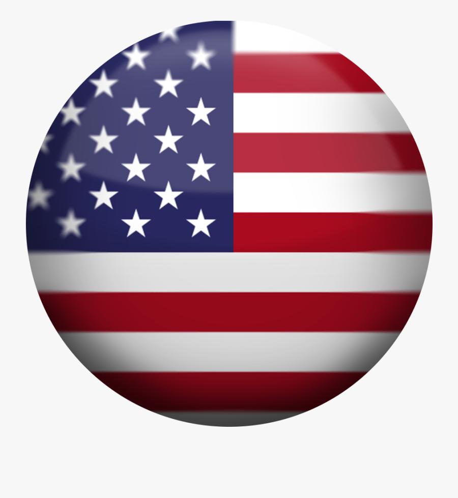 Usa Flag Button - Stars On The Us Flag, Transparent Clipart