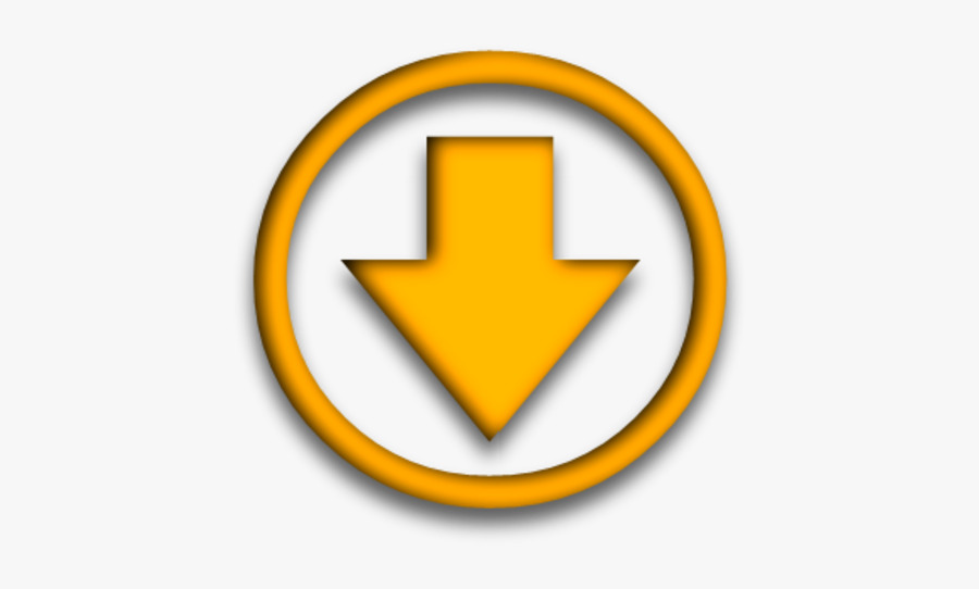 Arrow Pointing Down Yellow, Transparent Clipart