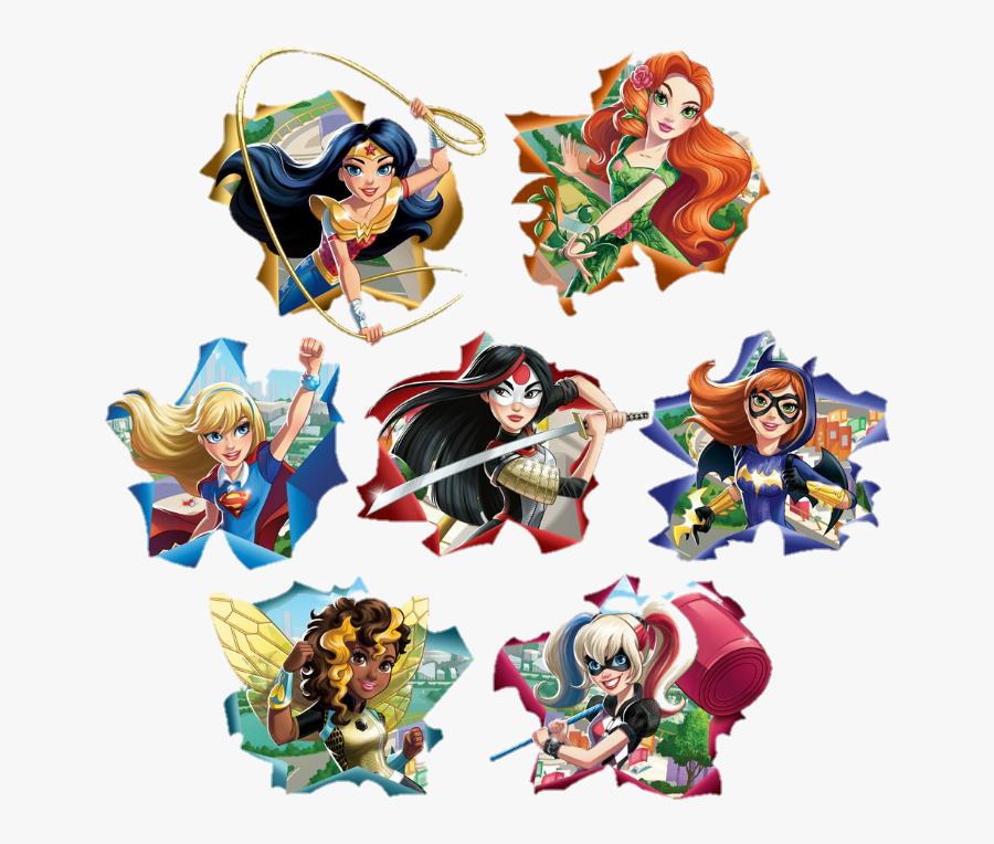 Transparent Dc Superhero Girls Png - Dc Super Hero Girls Stickers, Transparent Clipart