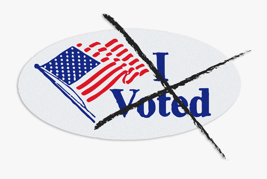 One Person, No Vote - Voted Stickers, Transparent Clipart