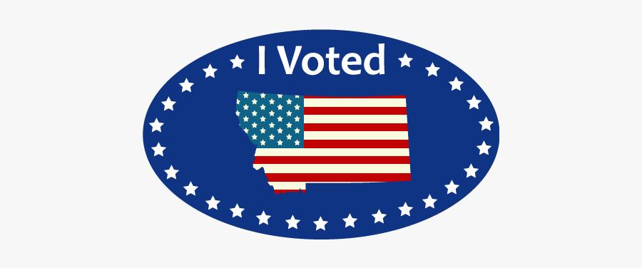 "2016 Digital ""i Voted - 2016 Election I Voted Sticker South Dakota, Transparent Clipart"