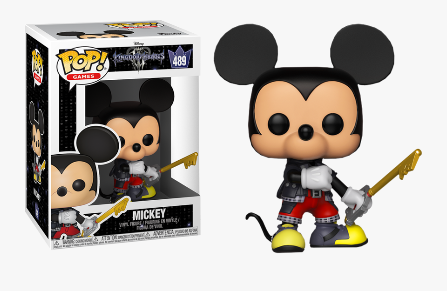 Transparent Funko Pop Clipart - Mickey Mouse Kingdom Hearts Funko Pop, Transparent Clipart