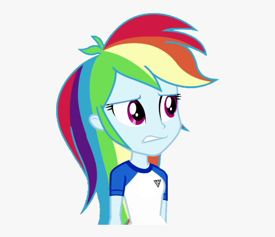 Image Royalty Free Library Fella Blue Clothes - Applejack And Rainbow Dash Equestria Girl, Transparent Clipart