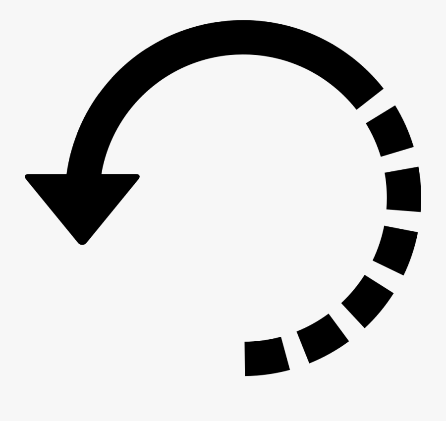 Arrow Circle With Half Broken Line - Circle With Arrows Png, Transparent Clipart