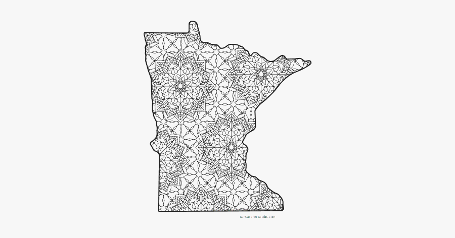 Free Printable Minnesota Coloring Page With Pattern - Free Printable Minnesota Coloring Pages, Transparent Clipart