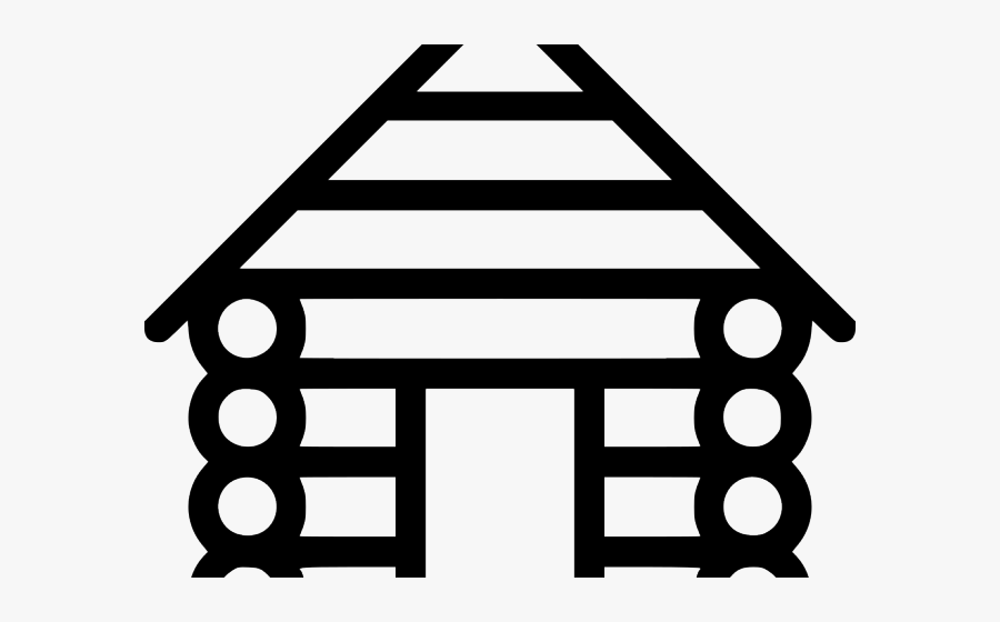 Cabin Clipart Svg - Log Cabin Clip Art, Transparent Clipart
