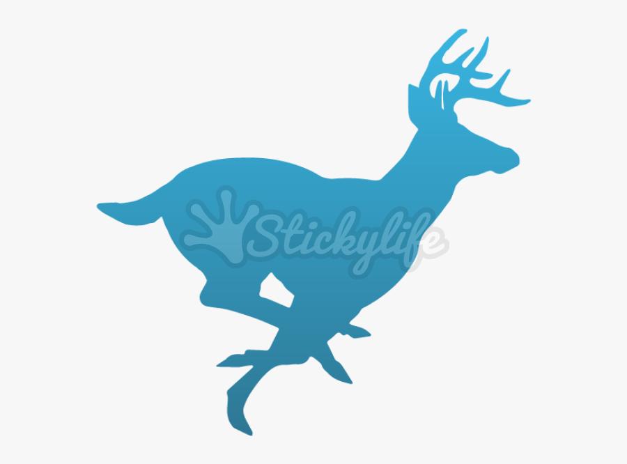 Deer Decal - Running Buck Deer Silhouette, Transparent Clipart
