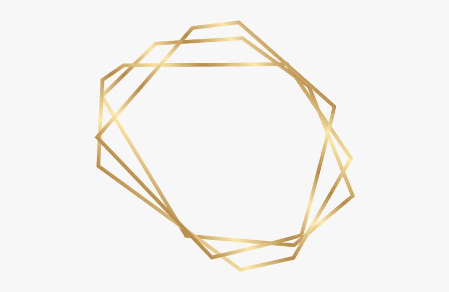 #geometric #frame #border #gold - Gold Geometric Frame Png, Transparent Clipart
