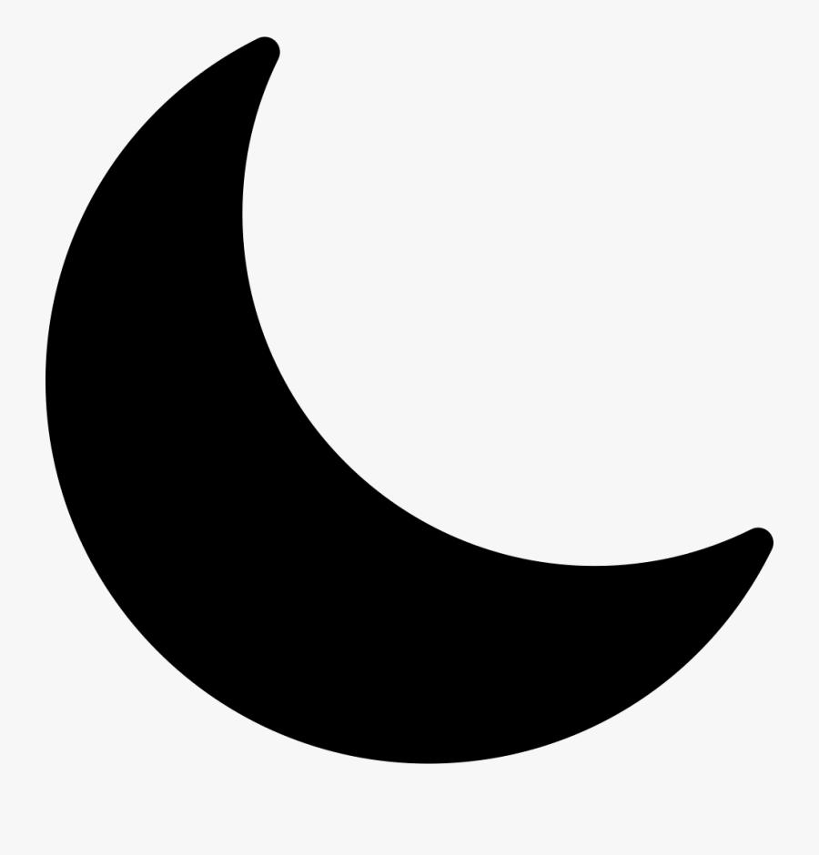 Crescent Moon - Crescent Moon Icon Png, Transparent Clipart