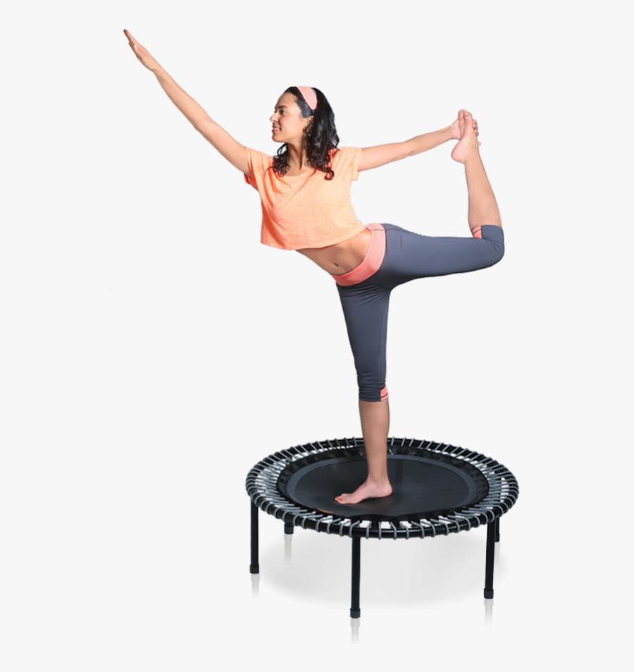 Jump Clipart Mini Trampoline - Yoga Trampoline, Transparent Clipart