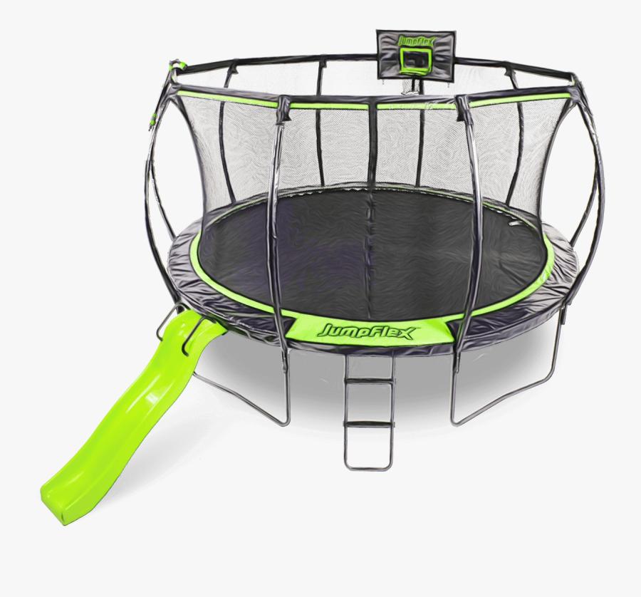Trampoline Png - Jumpflex Trampoline With Slide, Transparent Clipart
