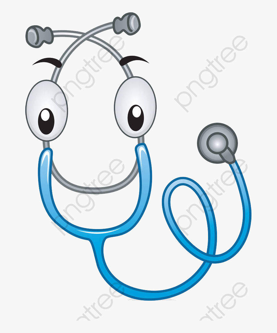 Stethoscope Clipart Cartoon - Cartoon Stethoscope Drawing, Transparent Clipart
