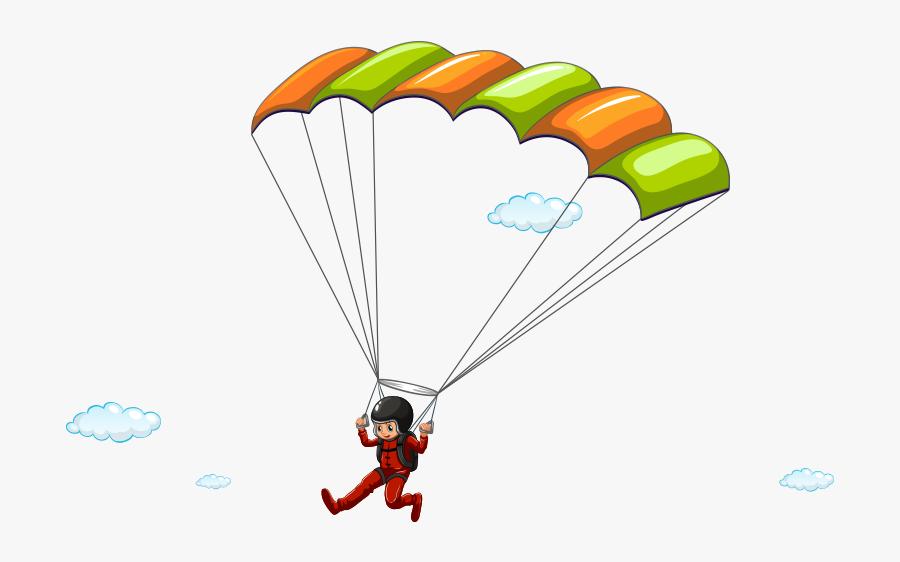 Png Parachute Illustration - Parachute Cartoon Png, Transparent Clipart