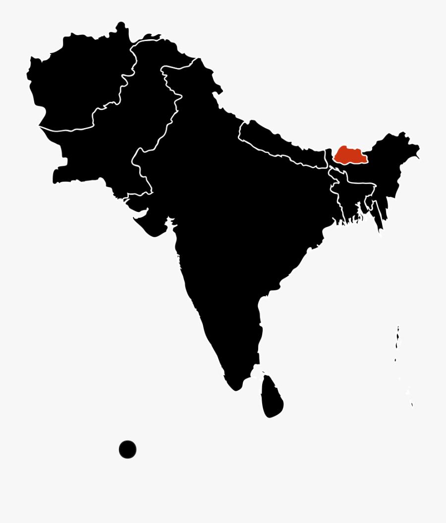 H1n1 South Asia Map - Bangladesh To Saudi Arabia, Transparent Clipart