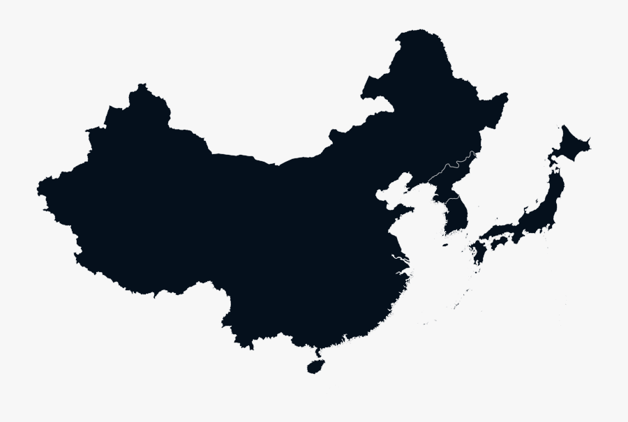 China Vector Map - China Map Silhouette, Transparent Clipart