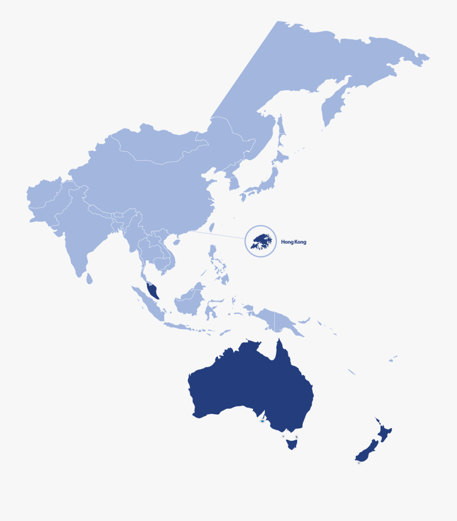 Transparent Map Png Images - Southeast Asia And Western Pacific, Transparent Clipart
