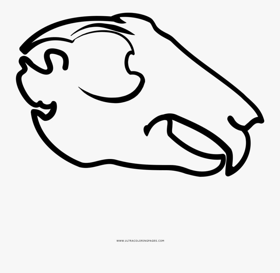 Animal Skull Coloring Page - Clip Art Animal Skull, Transparent Clipart