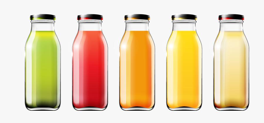 Juice Plastic Bottle Clipart - Bottle Of Fruit Juice, Transparent Clipart