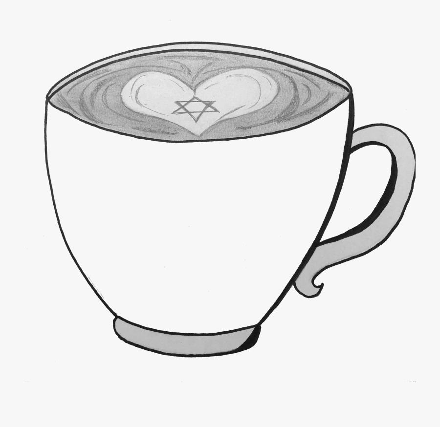 Transparent Coffee Cartoon Png - Line Art, Transparent Clipart