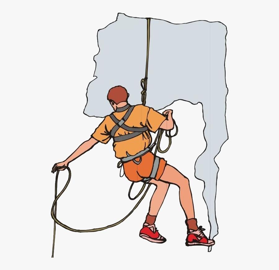 Transprent Png Free - Rock Climbing Cartoon, Transparent Clipart