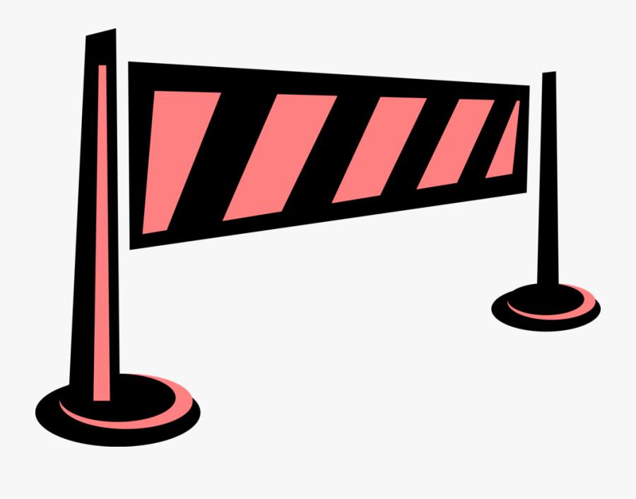 Vector Illustration Of Barrier Or Barricade Roadblock ...