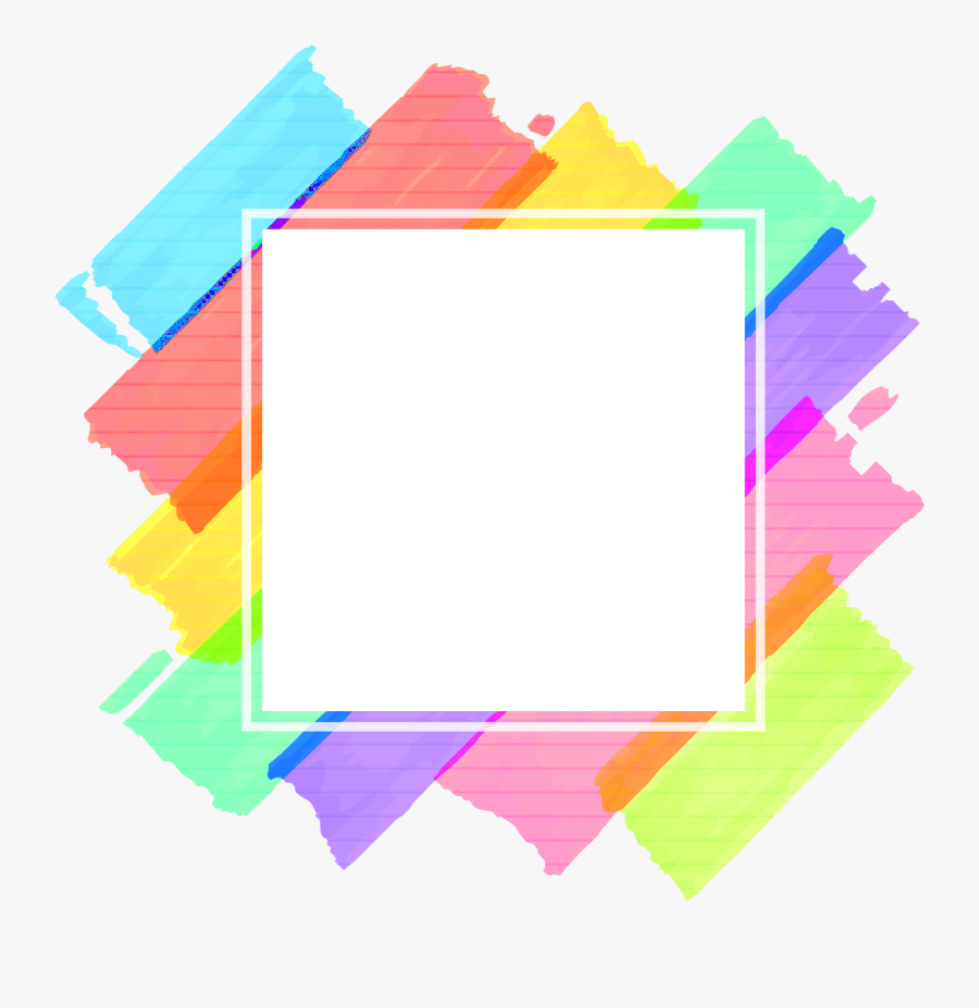 Abstract Frames Png - Colorful Frame Vector Png, Transparent Clipart