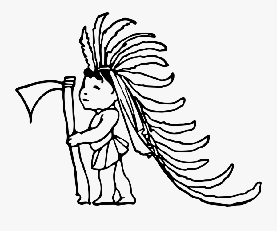 American, Boy, Child, Comic Characters, Indian, Native - Native American People Drawing, Transparent Clipart