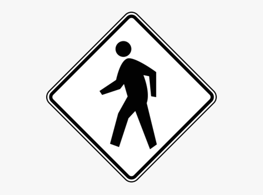 Pedestrian Crossing Sign White, Transparent Clipart