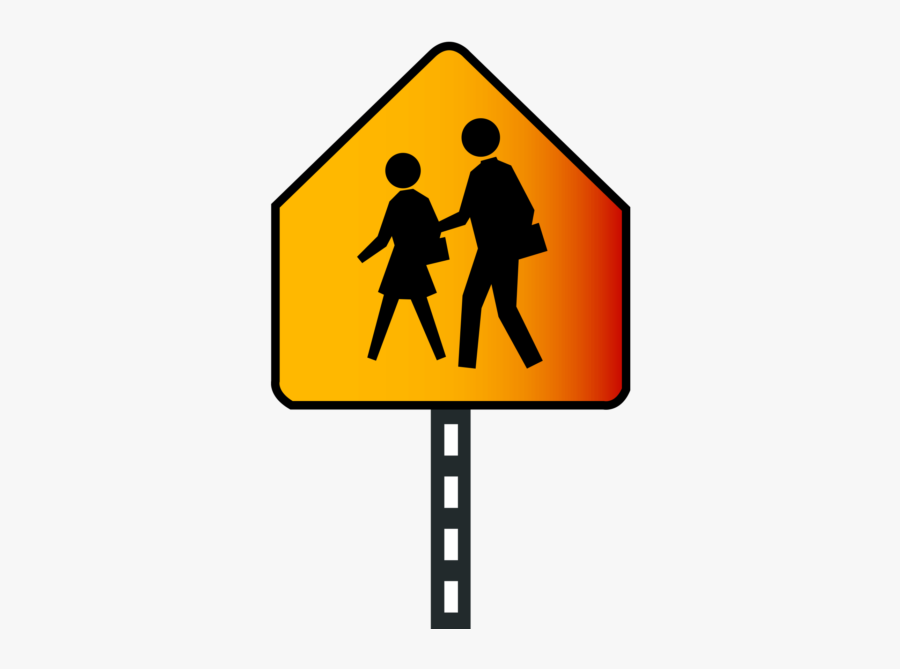 School Ahead Sign Png Image Free Download Searchpng - School Crossing Sign, Transparent Clipart