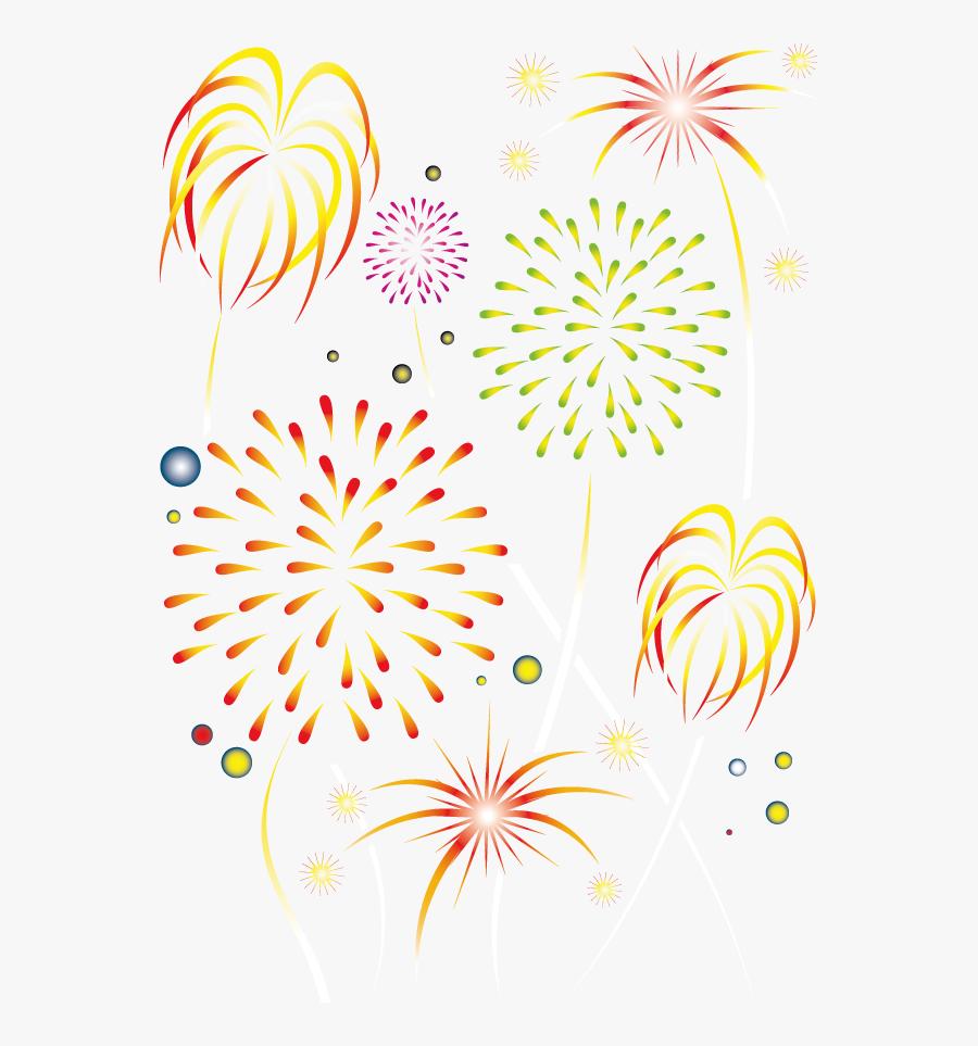 New Year Fireworks Lantern - 煙花 畫 法, Transparent Clipart