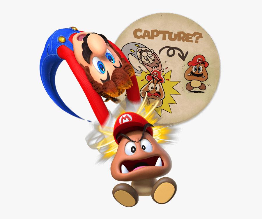 Transparent Cappy Png Super Mario Odyssey Capture Free