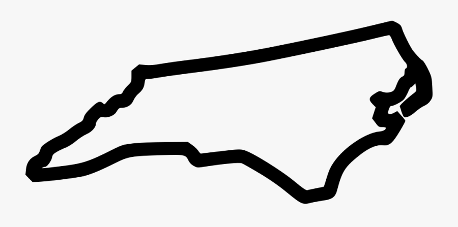 North Carolina - North Carolina Outline Svg, Transparent Clipart