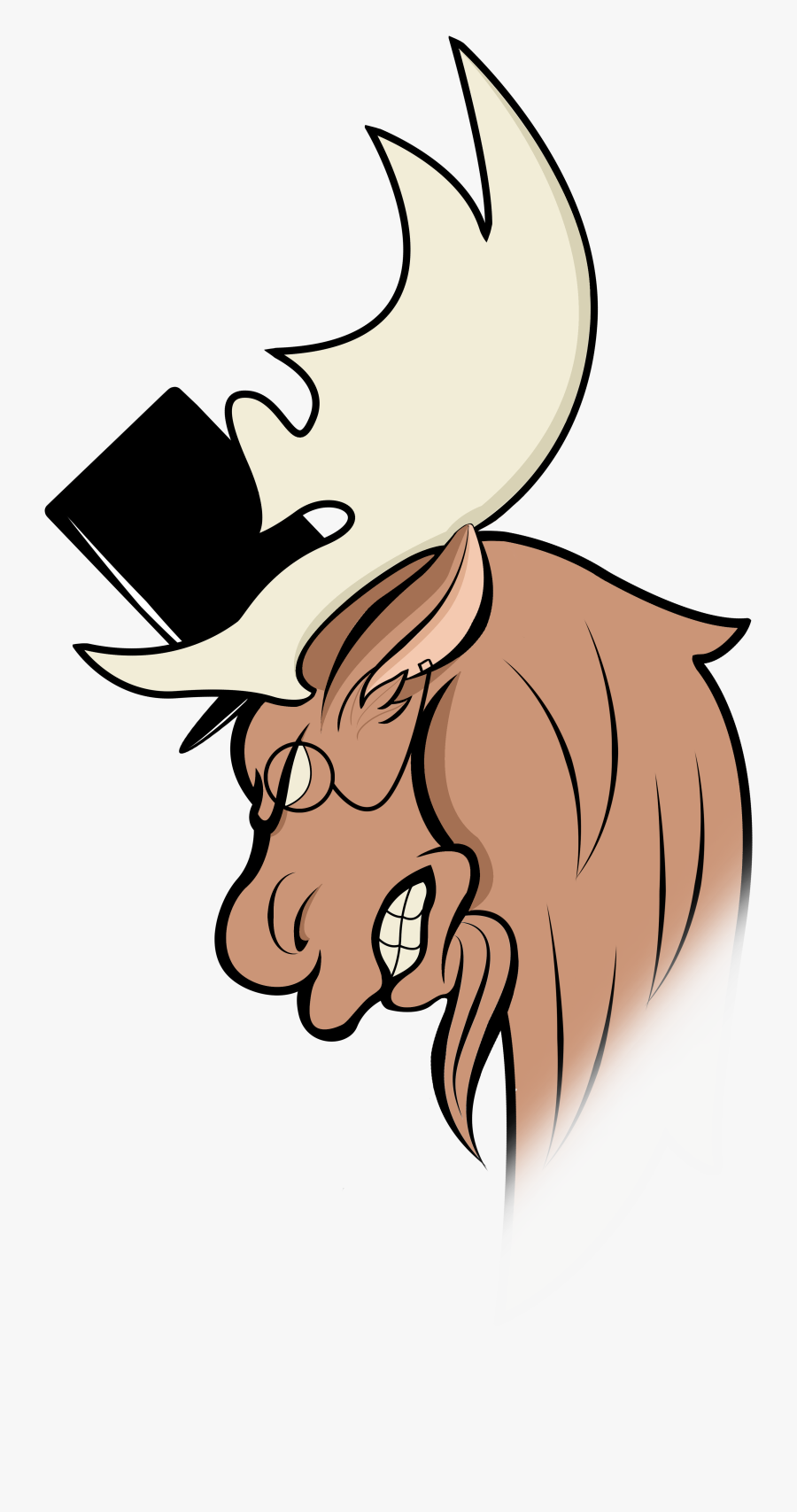 Ear Clip Arts For - Moose Avatar, Transparent Clipart