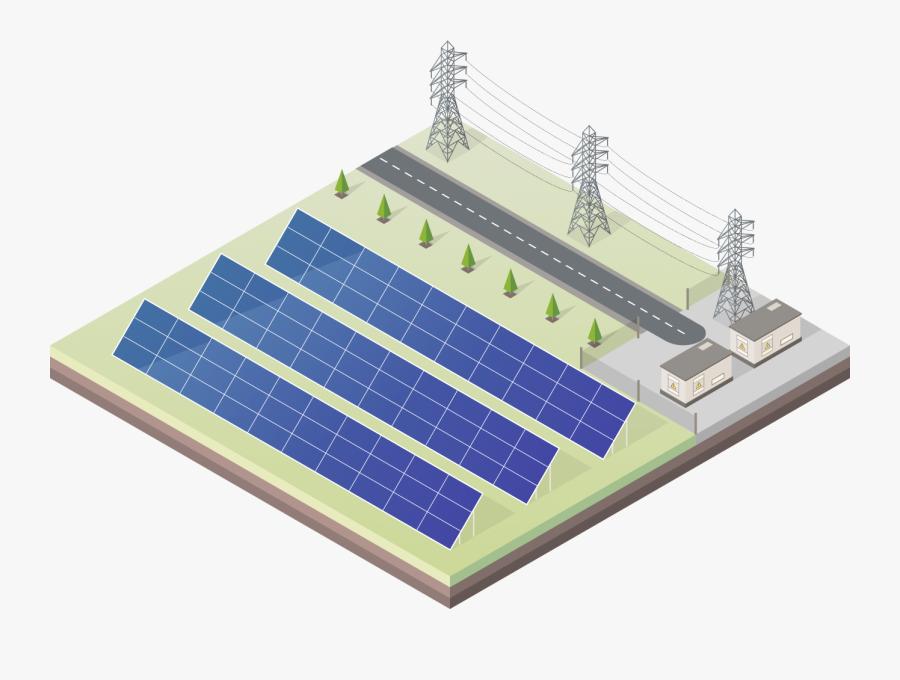 Unisolex Solar Plant - Solar Energy Station Clip Art, Transparent Clipart