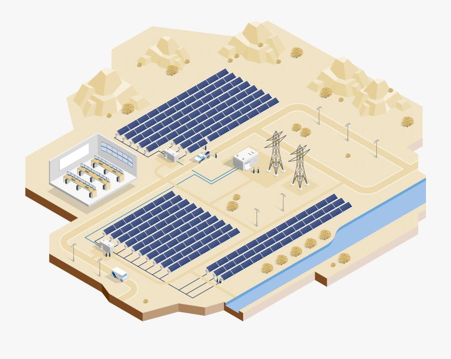 Pv Power Plant Components, Transparent Clipart