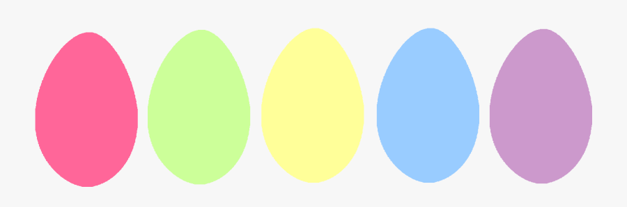 The Gallery For Gt Plain Easter Egg Clip Art Pastel - Circle, Transparent Clipart