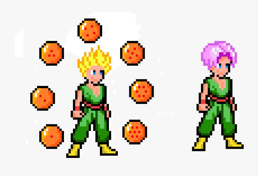 Kid Trunks / Ssj Kid Trunks Dragonballs - Kid Trunks Pixel, Transparent Clipart
