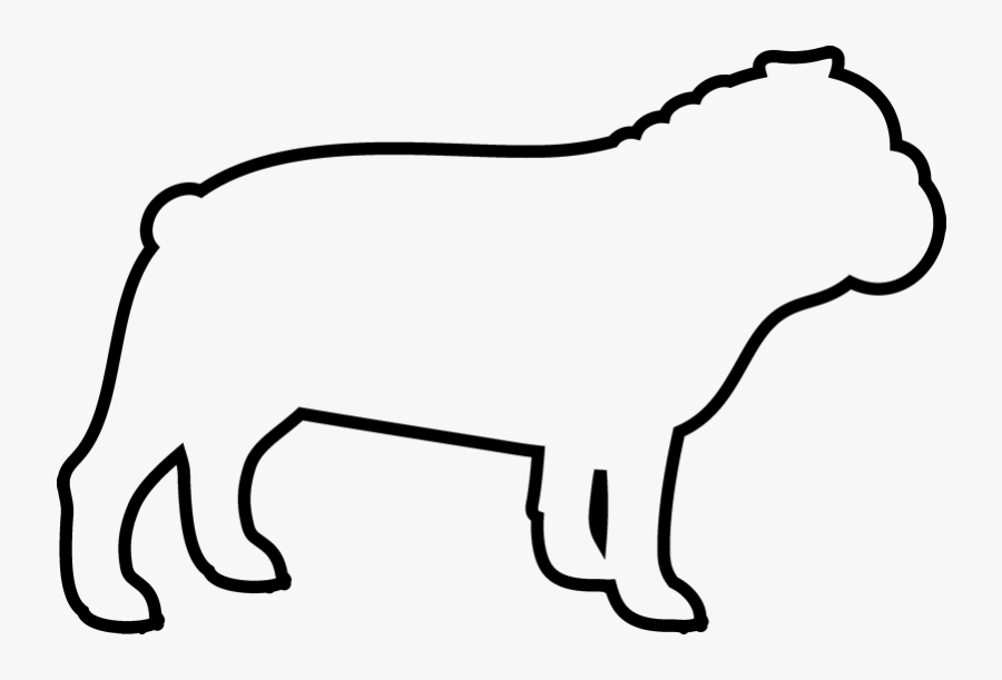 Transparent Dog Outline Png - Transparent Bulldog Outline, Transparent Clipart