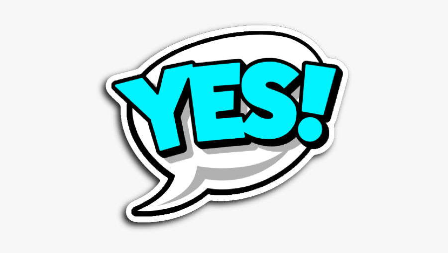 Png Royalty Free Library Yes Clipart Comic Book - Yes It Is Speech Bubble Png, Transparent Clipart