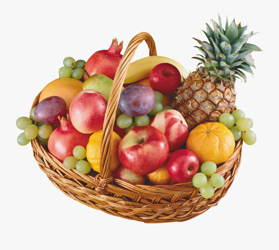 Basket With Fruits Png Clipart - Basket Full Of Fruits, Transparent Clipart