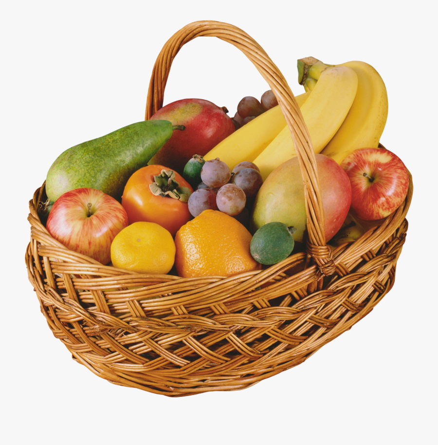 Fruits Clipart Bucket - Vegetables And Fruits In A Basket, Transparent Clipart