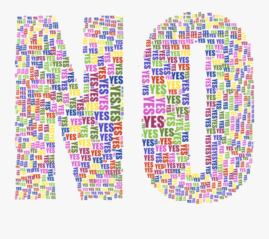 Transparent Yes And No Clipart - No Written With Yes, Transparent Clipart