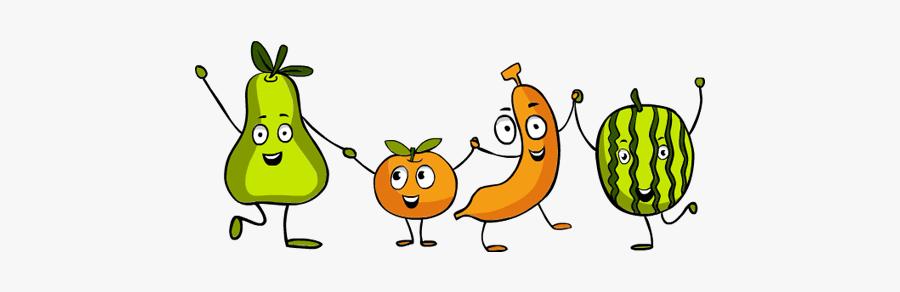 Clip Art Thanksgiving Happy - Dancing Fruit Clipart, Transparent Clipart