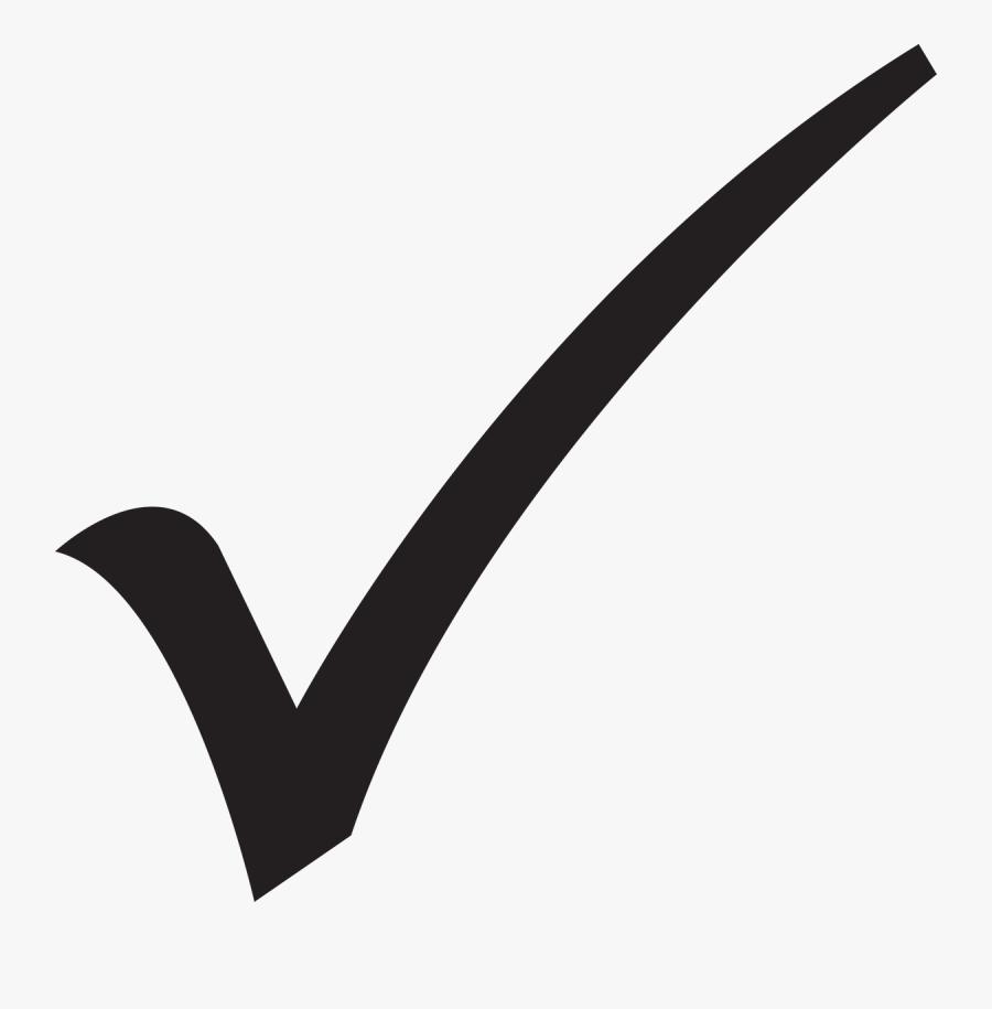 Check Mark Emoji Symbol Royalty-free Clip Art - Transparent Background Check Mark Silhouette, Transparent Clipart