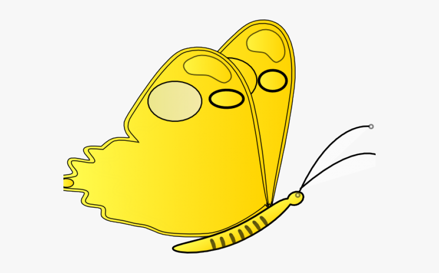 Yellow Butterfly Clipart Png - Yellow Butterfly Free Clipart, Transparent Clipart