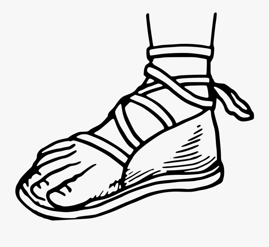 Collection Of Free Sneakers Drawing Sandal Download - Sandals Drawing, Transparent Clipart