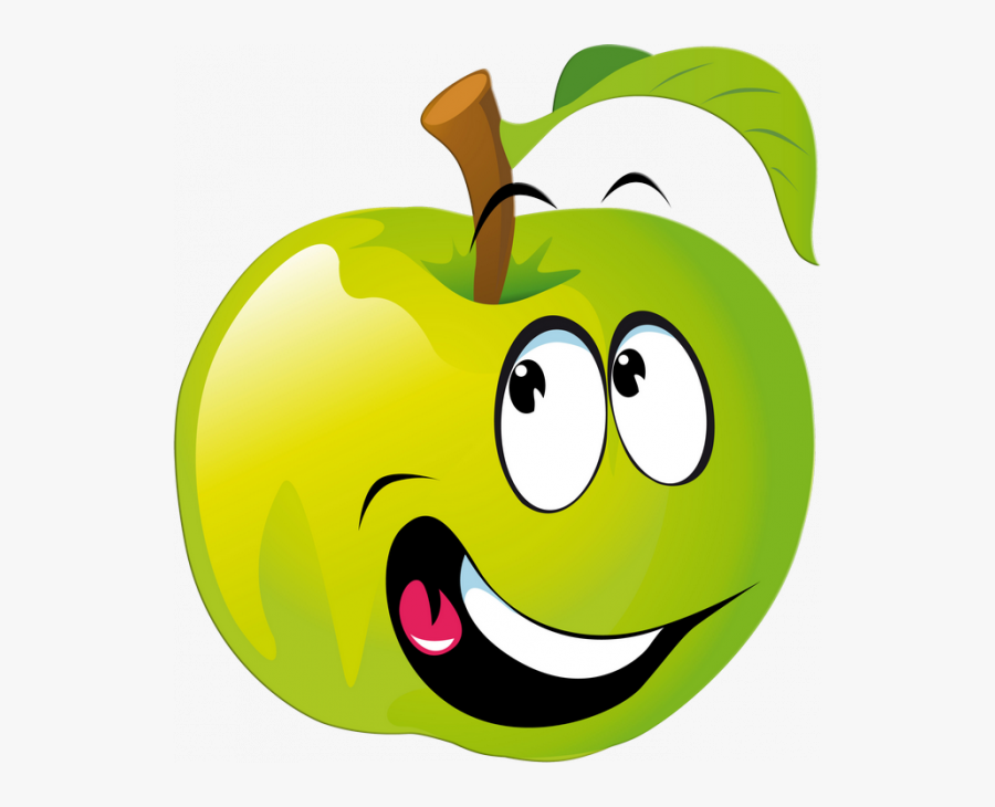 Clipart Kids Fruit - Fruits With Face Clipart, Transparent Clipart