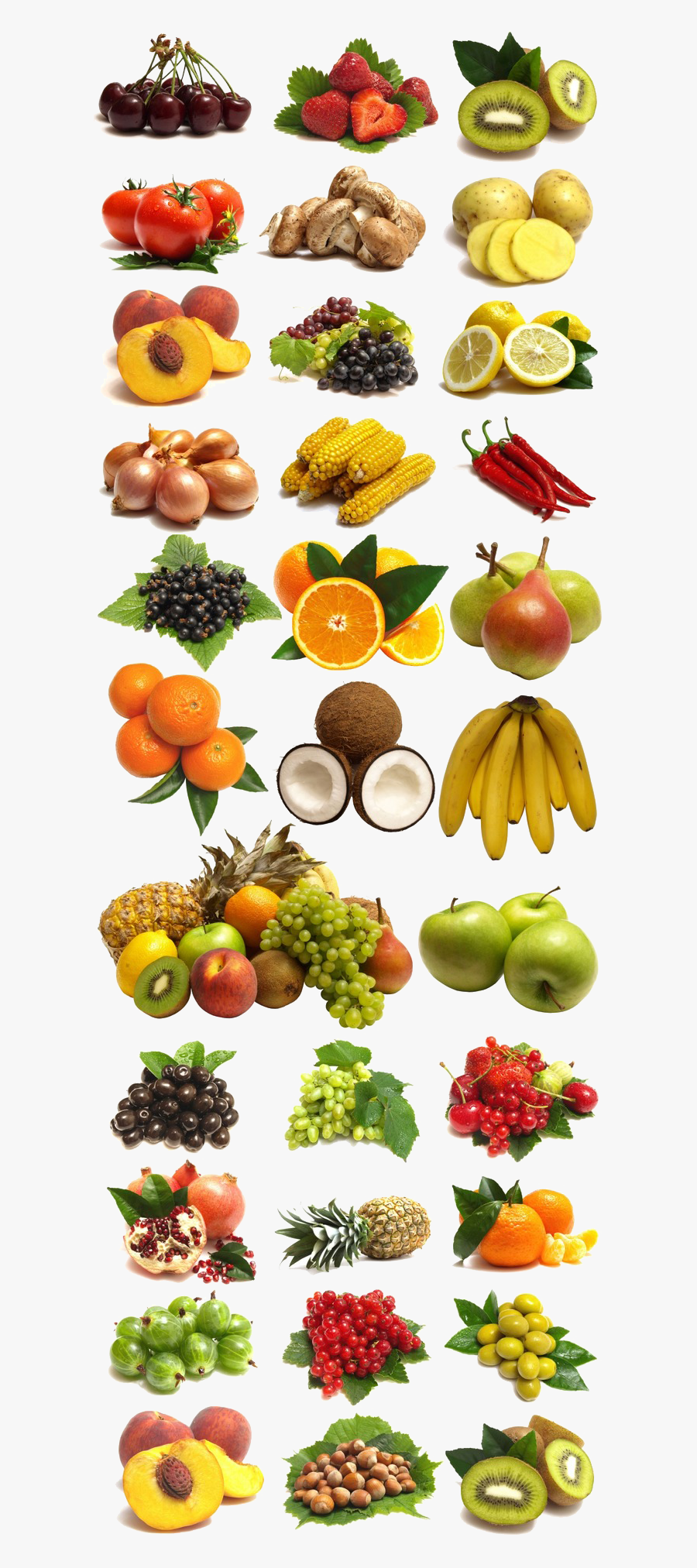 And Of Vegetables Collection Large Fruits Clipart - Food For Anti Diabetic, Transparent Clipart