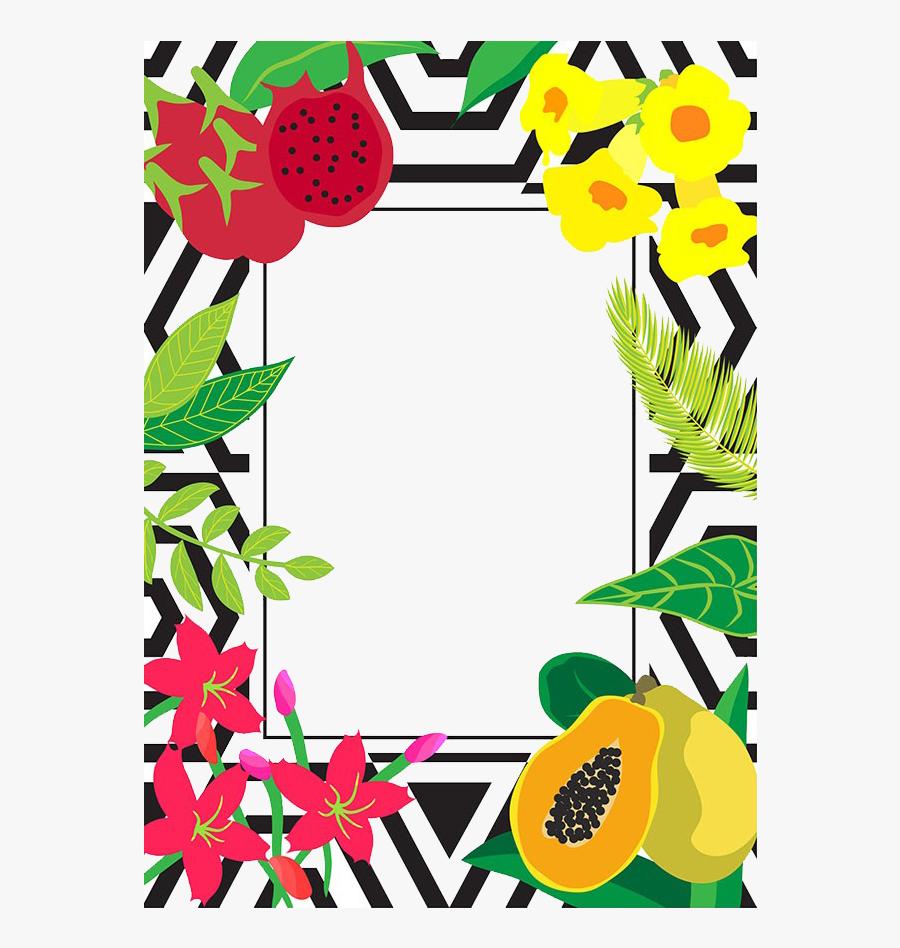 Papaya Fruit Illustration - Fruit Borders, Transparent Clipart